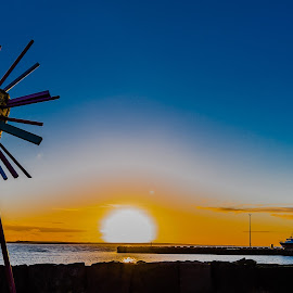 Artwork by Edvald Geirsson - Artistic Objects Other Objects ( iceland, sunset, sea, kopavogur, artwork )