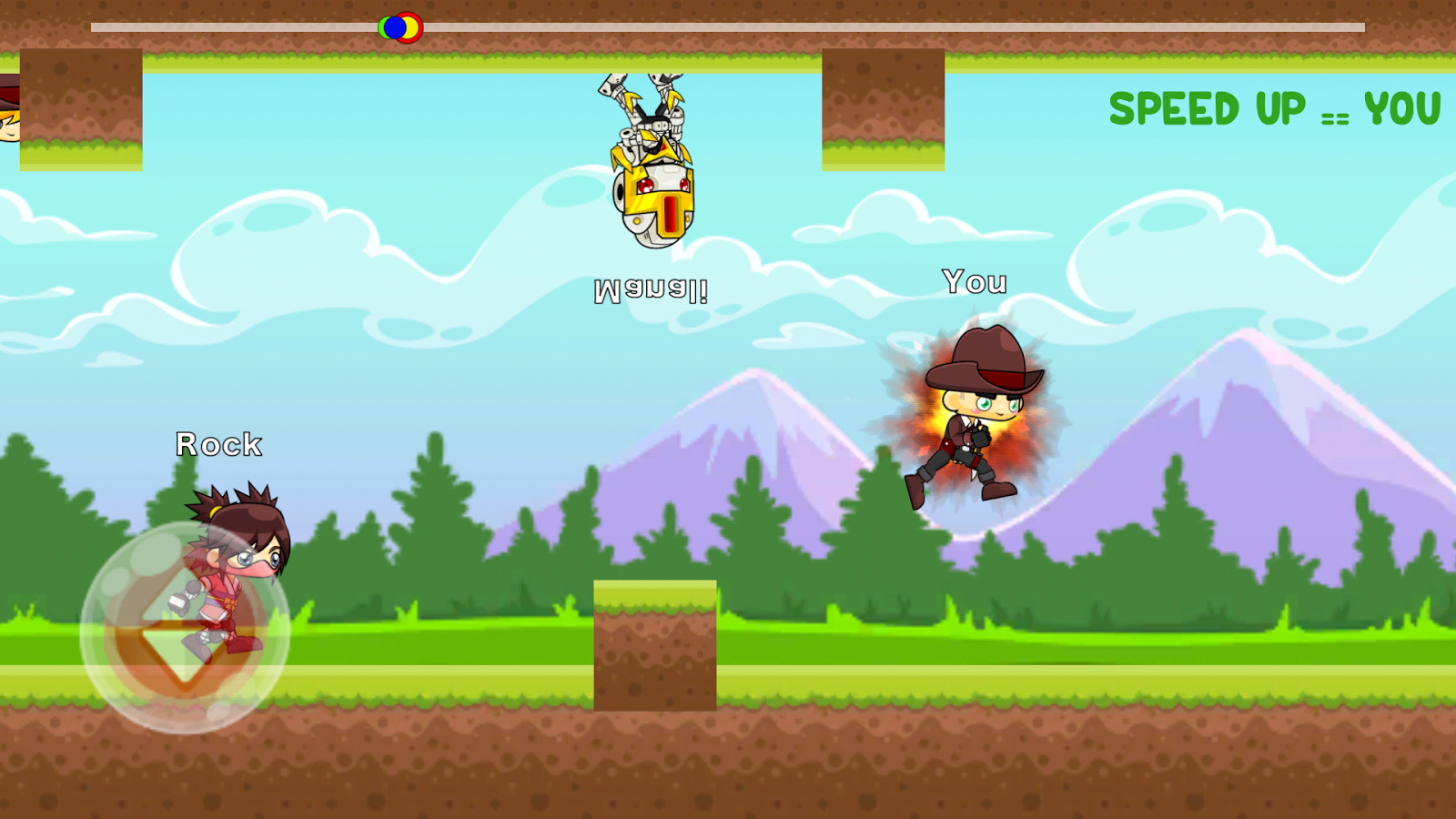 Jump Run Multiplayer Racing Screenshot
