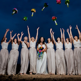 Bridesmaids by Lodewyk W Goosen (LWG Photo) - Wedding Groups ( bouquet, bridesmaids, wedding photography, wedding bouquet, preperation, wedding, bouquet toss, brides, bridesmaid, getting ready, bride, bridal preperation )