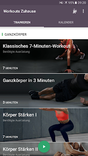 Workouts zuhause - Essensplaner Screenshot