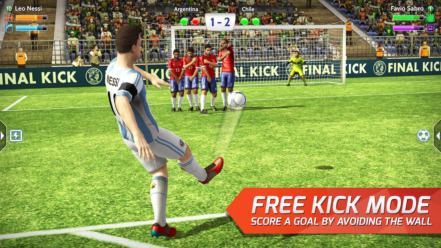Final kick: Online football Screenshot 1