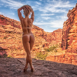 canyon view by Kelley Hurwitz Ahr - Nudes & Boudoir Artistic Nude ( moab morning one, harry potter computer windows )