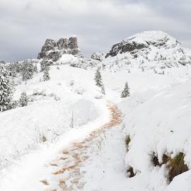 Falzarego Hills by Gorka Orexa - Landscapes Mountains & Hills ( hills, mountains, falzarego, snow, dolomites )