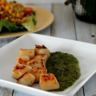 Oh My! Scallops With Chimichurri Sauce