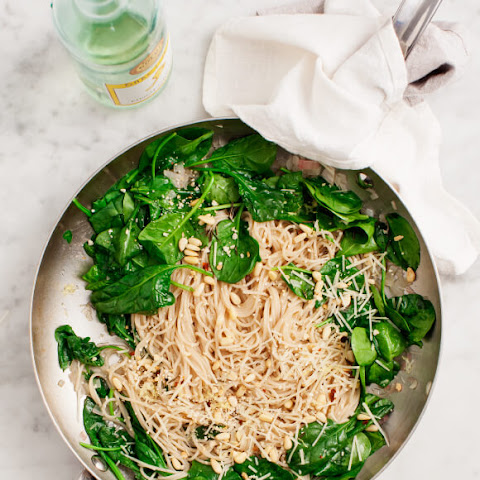 Lemony White Wine Capellini