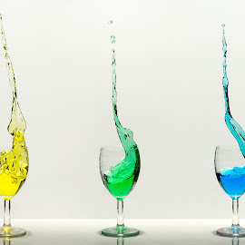 three differents alcoholic beverages by Nick Vanderperre - Food & Drink Alcohol & Drinks