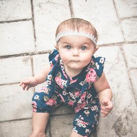 Harper 1 by Jenny Hammer - Babies & Children Babies ( girl, crown, baby, cute, portrait )