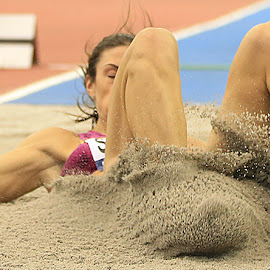 Sand Shoes by Ron Russell - Sports & Fitness Running ( sand, longjump, splash, female, indoors )