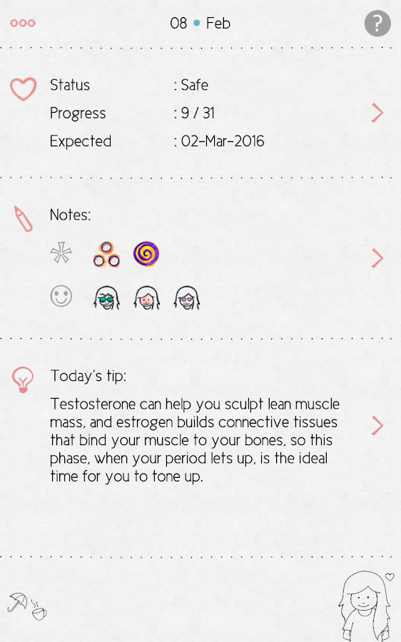 LoveCycles Period Tracker Screenshot 8
