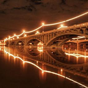 Tempe town lake bridge by Yamin Tedja - Buildings & Architecture Bridges & Suspended Structures ( townlake, tempe, arizona, bridge, phoenix, downtown,  )