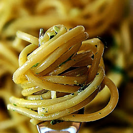 Spaghetti with basil by Alka Smile - Food & Drink Cooking & Baking