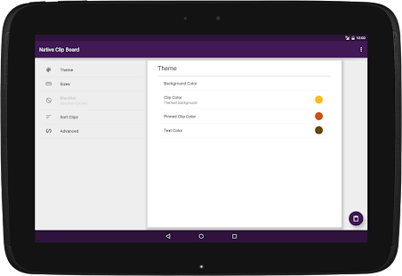 Native Clipboard Manager Screenshot