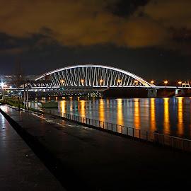 Night Bridge by Wilson Beckett - Buildings & Architecture Bridges & Suspended Structures