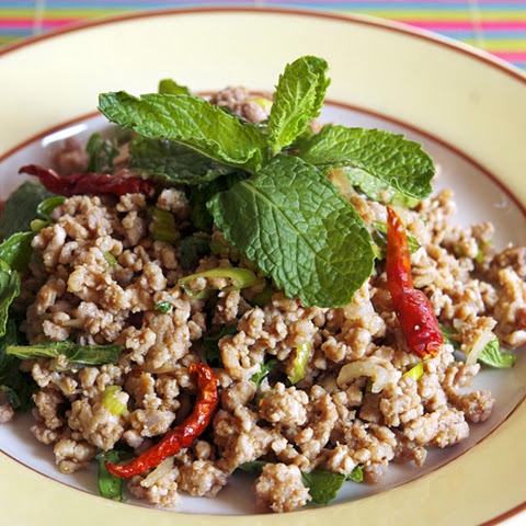 Thai Ground Pork Salad (Larb Mu)