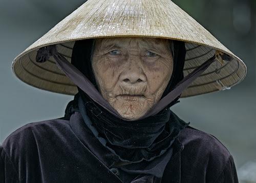 Grey Eyes by Jack van der Heijden - People Portraits of Women ( hoi an vietnam )