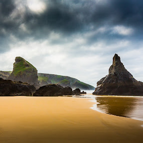 Bedruthan Steps by Kevin Standage - Landscapes Beaches