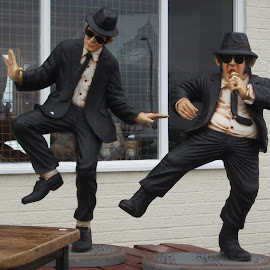 Blues Bros by Su Levers - Buildings & Architecture Statues & Monuments