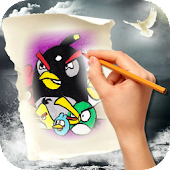 Download Android Game How To Draw Angry Birds for Samsung