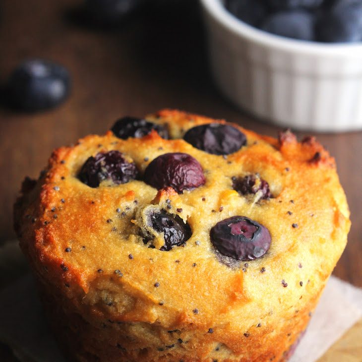 Blueberry Lemon Poppy Seed Protein Muffins Recipe | Yummly