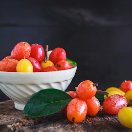 Elaeagnus latifolia fruits by TaTu Thai - Food & Drink Fruits & Vegetables ( food, light, natural )