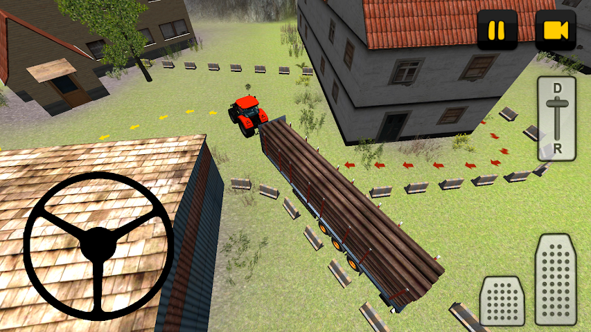 android Tractor 3D: Log Transport Screenshot 2