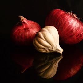 Onion Garlic by Prasanta Das - Food & Drink Ingredients ( garlic, compositio, onio )