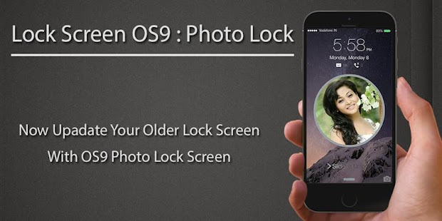 Lock Screen OS9 : Photo Lock - screenshot