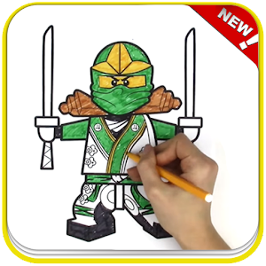 How To Color Lego Ninja Coloring game for adult For PC