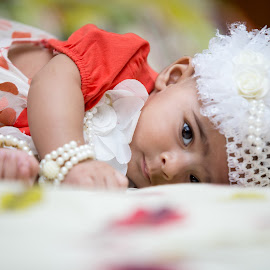 Baby Portrait by Syed Nayyar Hussain Kazmi - Babies & Children Babies ( new born, head shot, baby girl, baby, portrait )