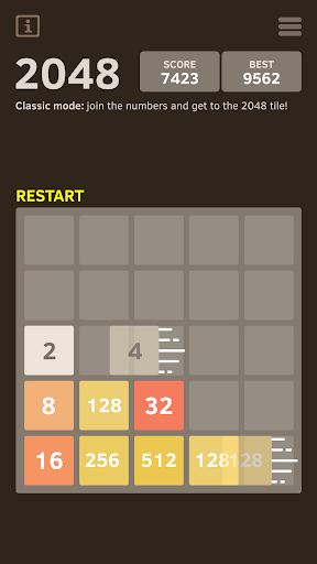2048 Number puzzle game screenshot 13