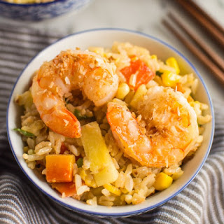 Coconut Pineapple Fried Rice with Shrimp