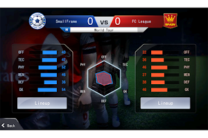 Screenshot of LINE Football League Manager