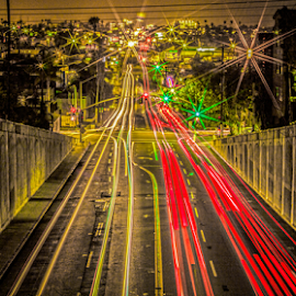 san diego university ave  by Roman Gomez - Landscapes Travel ( san diego, roman gomez, romansgallery, city at night, street at night, park at night, nightlife, night life, nighttime in the city )