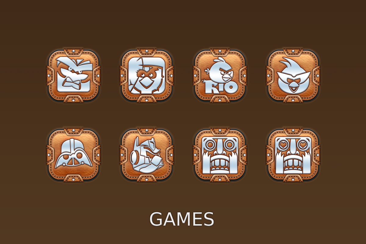 Leather Pouch-Icon Pack Screenshot 15