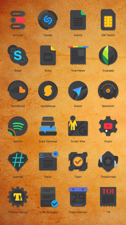 Crispy Dark - Icon Pack(SALE!) Screenshot 2