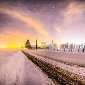 Frozen Echo by Srdjan Vujmilovic - Landscapes Starscapes ( skyline, winter, sky, nature, snow, outdoor, landscape )