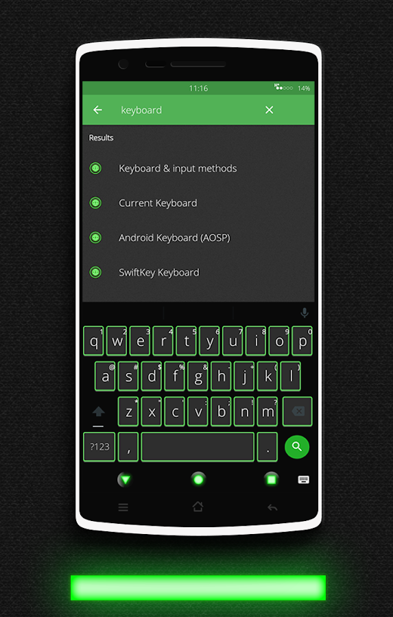 Glow Green CM13 CM12.x Theme Screenshot 3