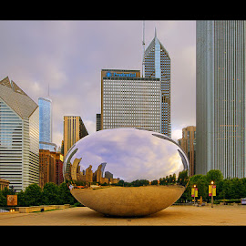 Chicago Shapes by Jon Kinney - Buildings & Architecture Statues & Monuments ( city art, bean, cities, buildings, chicago,  )