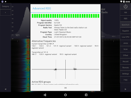 Screenshot of SDR Touch - Live offline radio