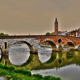 Ponte Pietra by Luna Sol - Buildings & Architecture Bridges & Suspended Structures