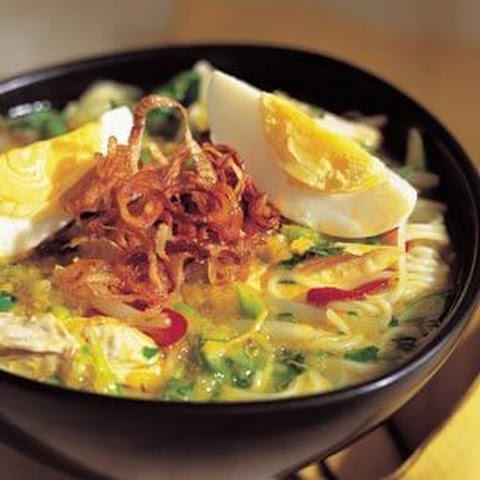 Indonesian Spicy Chicken Noodle Soup