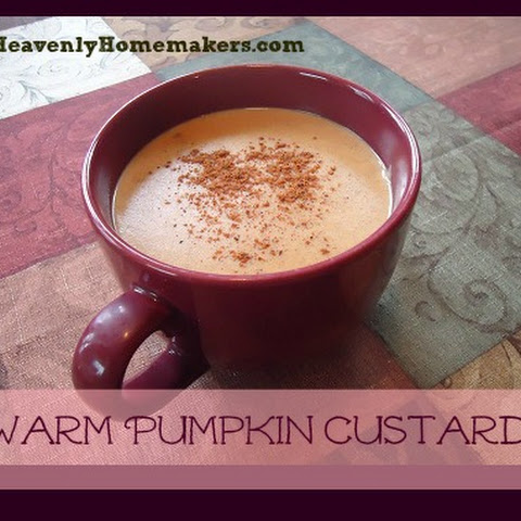 Warm Pumpkin Custard Drink