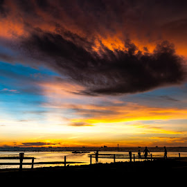 Cloudy Sunsets by Ted Khiong Liew - Landscapes Weather ( # sunsets # water # cloudy )