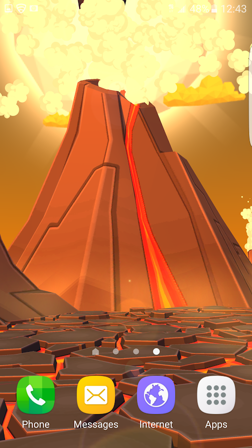 Volcano 3D Live Wallpaper Screenshot 2
