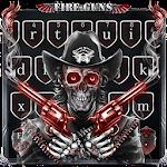 Skull Fire Guns Keyboard Theme Icon