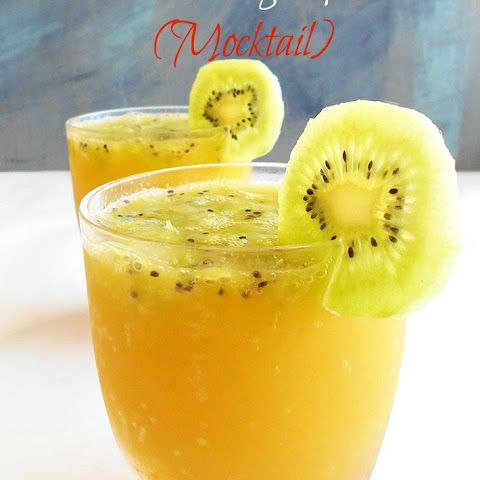 Kiwi Orange Spritzer (Mocktail)