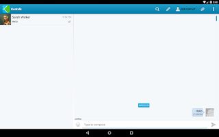 Screenshot of Kontalk Messenger