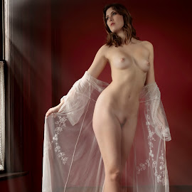 by Xavier Wiechers - Nudes & Boudoir Artistic Nude ( light rays, model, nude, mansion, canada, beautiful, vail, sienna hayes, white, thoughtfull, beauty, young, vancouver, caucasian, classy, pose, gorgeous, woman, light, bare, tall )
