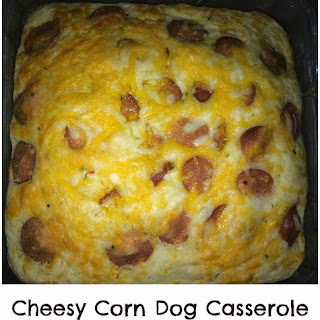 Cheesy Corn Dog Casserole