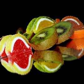 kiwi,orange and candys by LADOCKi Elvira - Food & Drink Fruits & Vegetables ( kiwi )